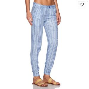 RVCA transplant traveler pants in blue
